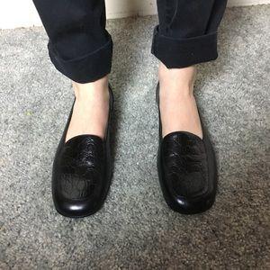 Nordstrom Snakeskin Black Loafers